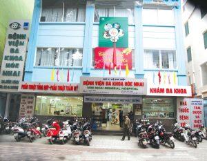 Vệ sinh phòng LAB – BV Hòe Nhai